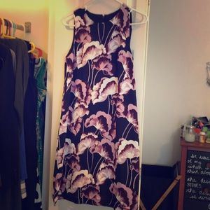 Floral silky shift dress